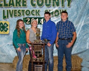 Senior Overall Showmen; Jessica McNeal (horse), Cami Miller (beef), Joshua Langlois (sheep, swine), Luke Coats (dairy)